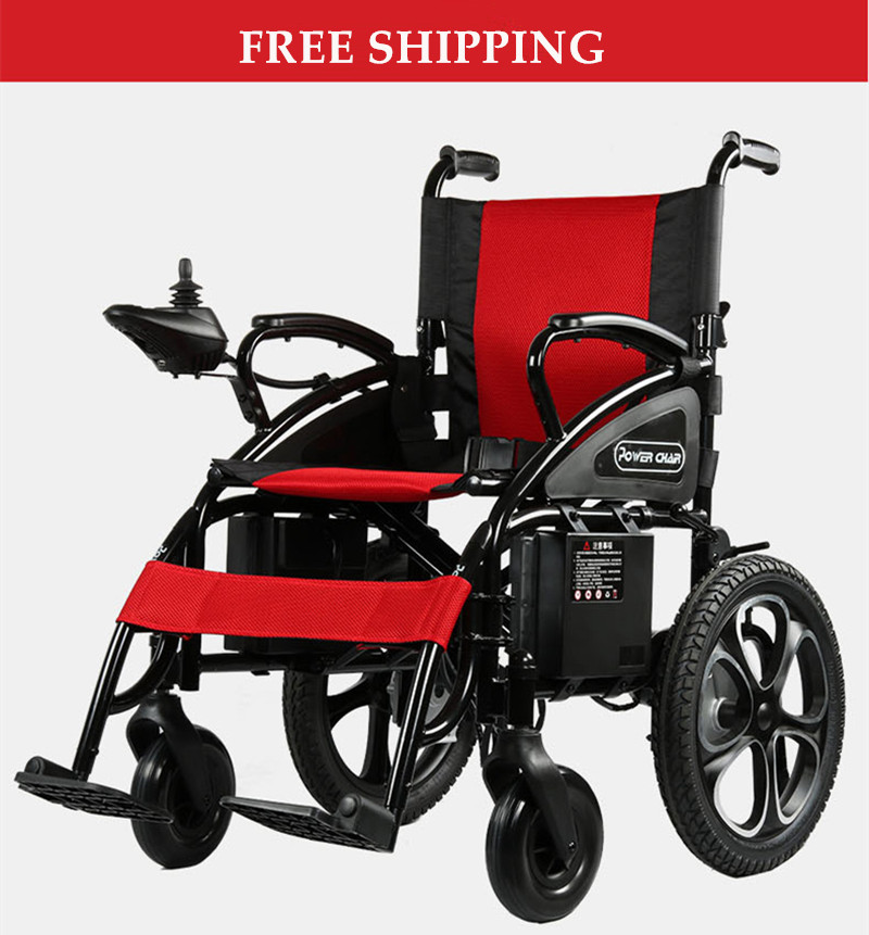 free shipping folding 4 wheel electric font b wheelchair b font china for font b disable