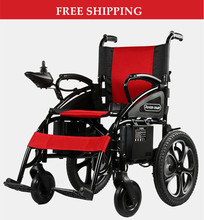 free shipping folding 4 wheel electric wheelchair china for disable and elder
