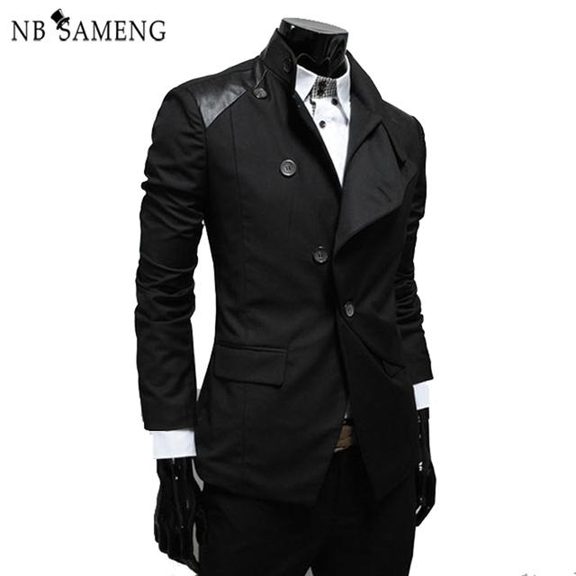 Envío Gratis marcas hombres abrigos de invierno Chaqueta Chaquetas Casuales chaqueta formal traje delgado Estilo Británico Masculino DressTerno 13M0449