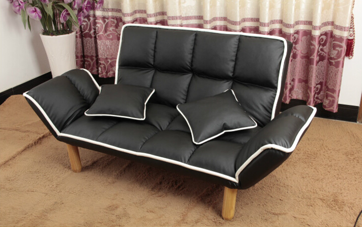 modern design leather sofa sets back arm 5 position adjustable japanese style furniture living room leather - Black Leather Recliner Chair