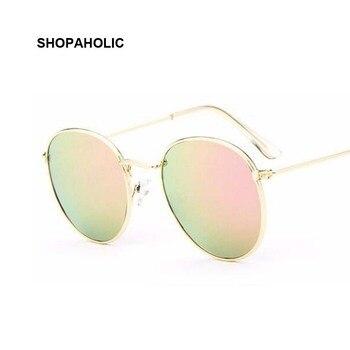339a7ef2d5 Ronda de 2019 Retro gafas de sol mujer marca diseñador mujer espejo gafas  de sol gafas