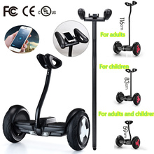 2016 Newest 2 wheel hoverboard skateboard 10 inch smart self balancing wheel electric scooter with Mobile APP hover board Black