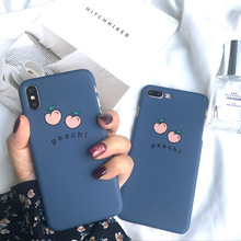 For iphone 6 7 8 X Case Fundas XS 5 S 6s 7Plus 8Plus Cover  11 pro TPU Blue Peach Friend Apple