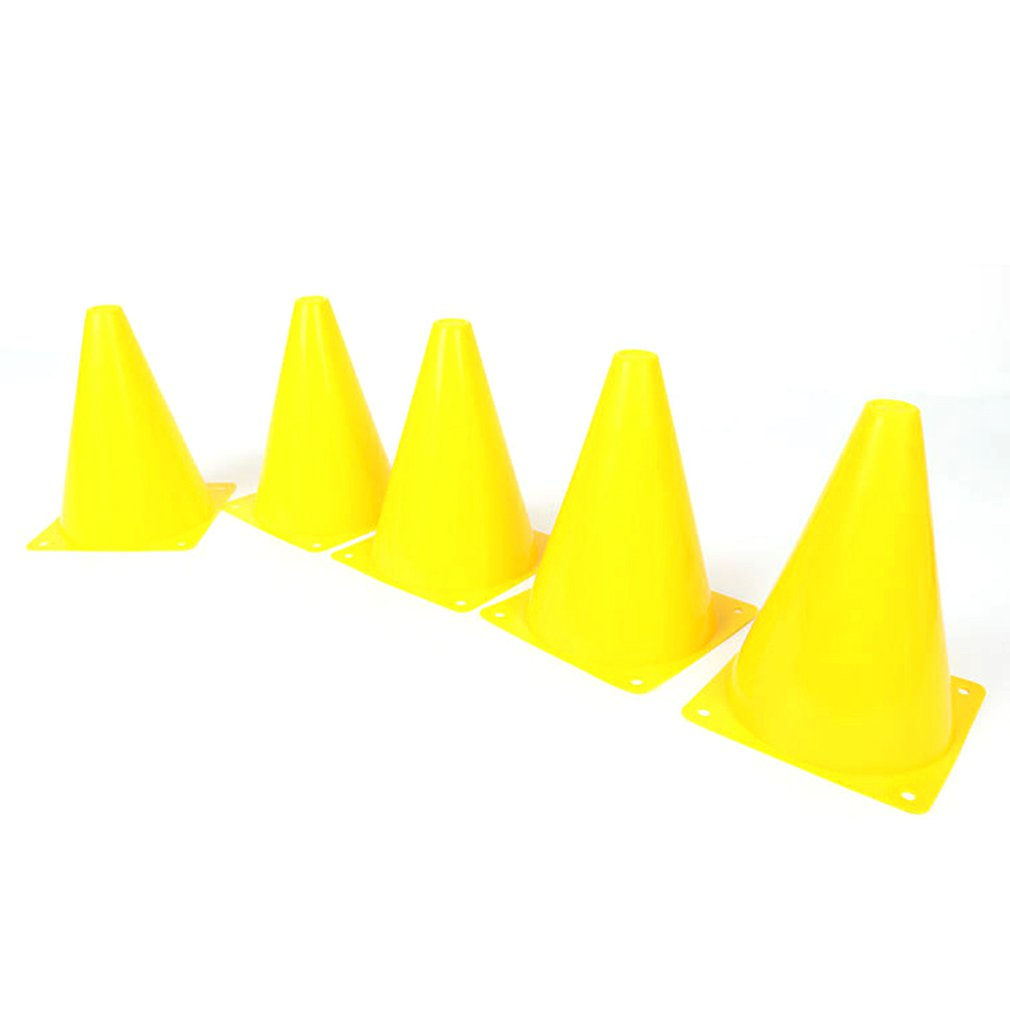 5PCS/Set 18cm Training Sport Safety Traffic Marker Cone Football Rolle