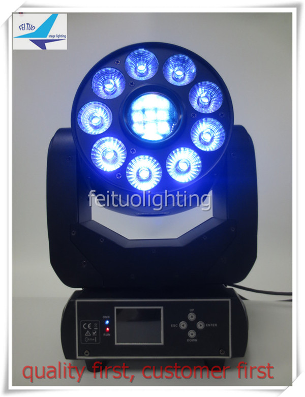 A- 12light+road case Disco dmx 512 Lihgt 9x12w rgbwa uv led moving head wash+75w led spot moving head stage light 16/23channels