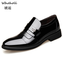 Whoholl Brand Italian Mens Leather Shoes Big Size Luxury Dress Men High Quality Office Loafers Man Casual Wedding 44
