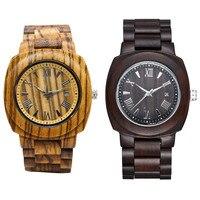TJW Luksusowe męska drewna zegarek business casual ruch mężczyzna zegarka ochrony środowiska oryginalnego ekologii Mężczyzn Prezent TT @ 88