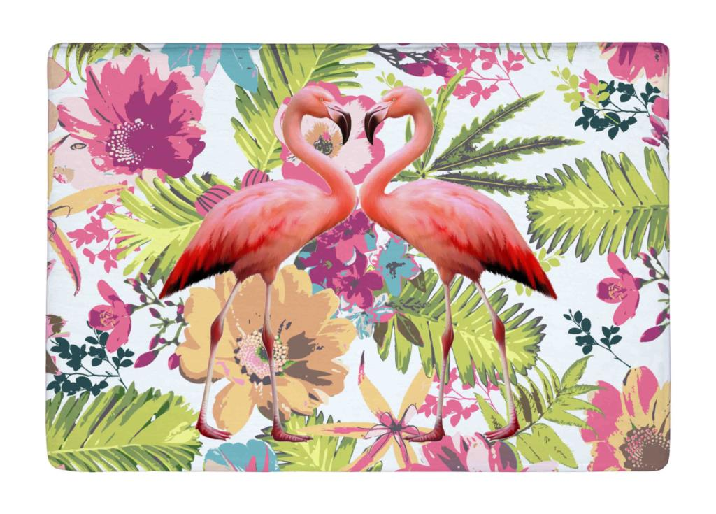 Aliexpress Com Buy Floor Mat Watercolor Tropical Floral And Flamingos Print Non Slip Rugs