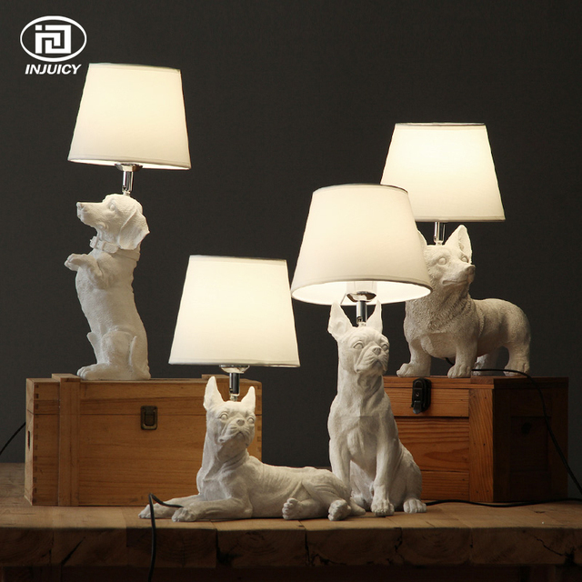 Loft vintage resin pet dog table lights retro rabbit art lamp loft vintage resin pet dog table lights retro rabbit art lamp bedroom bedside childrens room study aloadofball Image collections