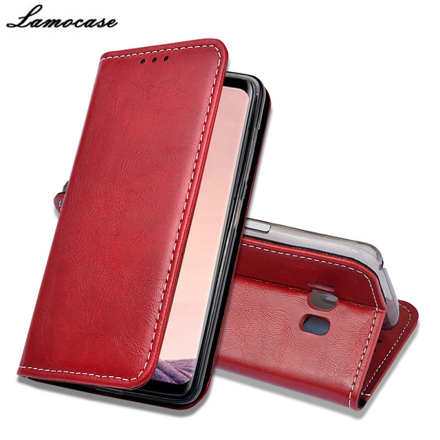 """Lamocase For Samsung Galaxy S8 Leather Flip Cover For Samsung Galaxy S8 SM-G9500 SM-G950U SM-G950F 5.8"""" Wallet Style Phone Bags"""