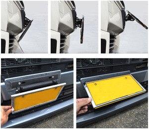 Image 5 - Chiziyo 자동차 번호판 프레임 홀더 탄소 섬유 레이싱 번호판 홀더 조정 가능한 마운트 브래킷 자동차 수정