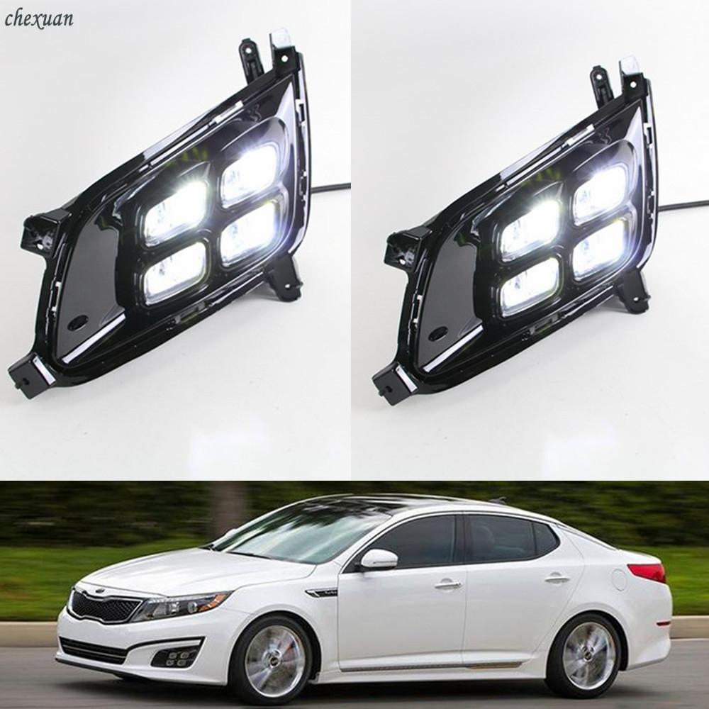 CSCSNL 2PCS For kIA Optima K5 2013 2014 2015 with Turnning Yellow Signal LED DRL Daytime
