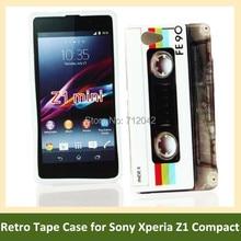 OEEKOI Retro Cassette Tape Camera Print Soft TPU Cover Phone Case for Sony Xperia Z1 Compact /Z1 Mini/M51w Free Shipping