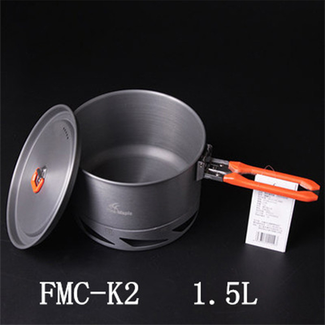 New Arrives Fire Maple Heat Exchanger Camping Pot 1.5L Hard Anodizing Aluminum Outdoor Cooking Cookware 338g Feast K2
