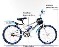 free shipping Quality Steel Frame Mountain Bike Children 20 Inch Mountain Bicycle Double Disc Brake
