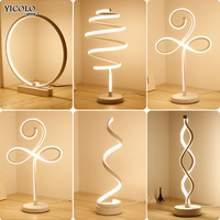 New Table Lights Bedside Bedroom Table Lamp Desk Light For Living Room Study Room Bedroom Lighting LED home fixture
