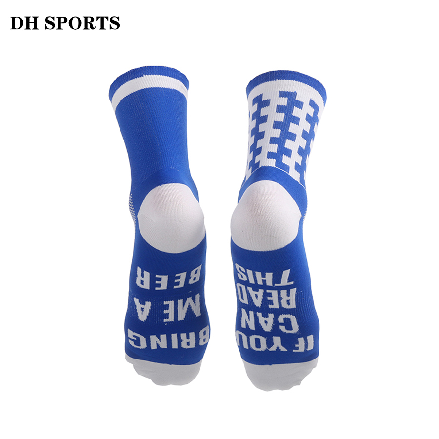 Funny Sports Socks Letter Printed If You Can Read This Bring Me A Beer Cycling Socks Women Men Stylish Running Compression Sock