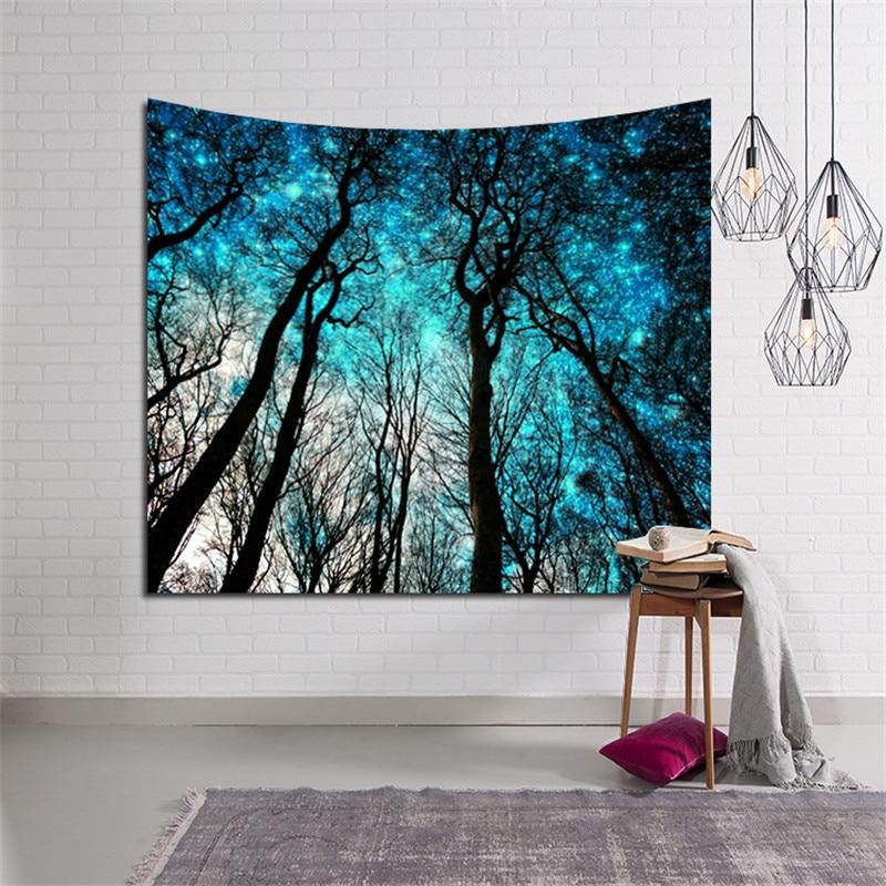 Frische Morgen Wald Wand-dekor Tapisserie Wandbehang Boho Strand Werfen Handtuch Yoga Mat Blanket Tischtuch Dekoration Teppiche