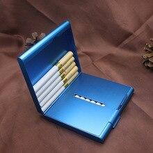 Podwójnie otwarty aluminiowy papierośnica pudełko do cygar pojemnik na tytoń metalowe etui do przechowywania pojemnik akcesoria do papierosów