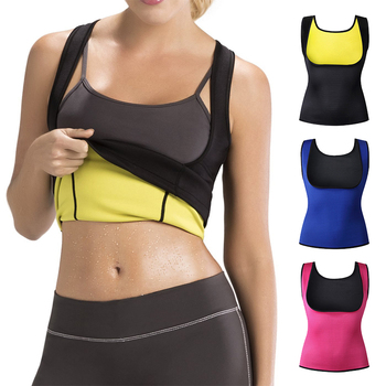 Sports Fitness Cami Vest Hot Exercise Shapers Tops Training Sweat Sleeveless Shirt Neoprene Clothes Vests Slimming Women S-6XL sexy panti