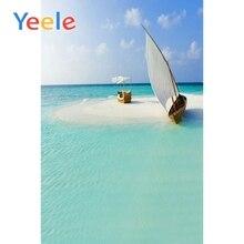Yeele Summer Sunny Sea Island Sailboat Landscape Photography Backgrounds Vinyl Camera Photographic Backdrops For Photo Studio