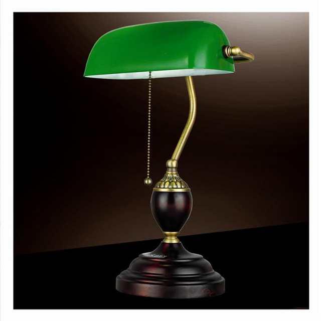 Online Shop Emerald Green Glass Table Light Power Bank Desk Lamp