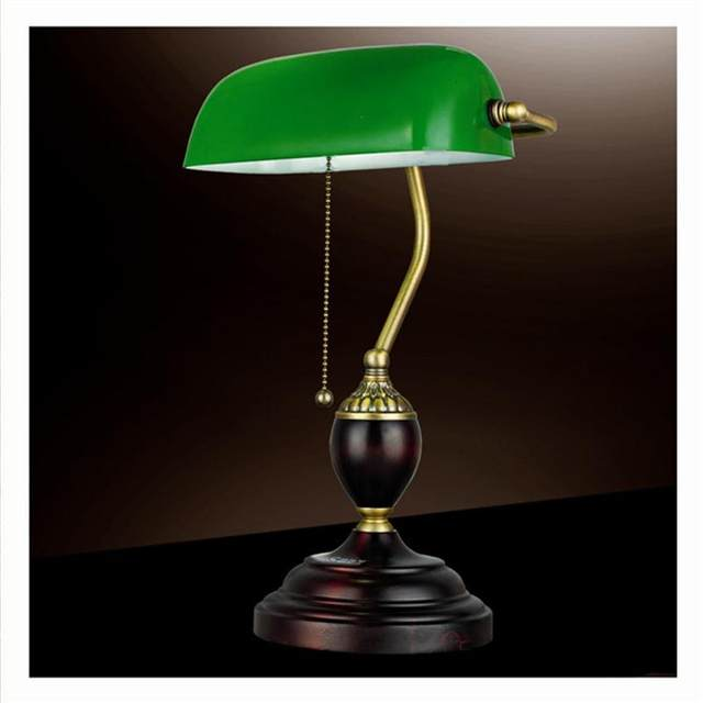 Online shop emerald green glass table light power bank desk lamp emerald green glass table light power bank desk lamp office red wood lampe vintage e27 reading lamps industrial retro luminarias aloadofball