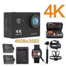 Оригинальный ультра 4 К 25FPS Wi-Fi 1080 P 60fps EK h9se en 5000 экшн-камеры Cam Водонепроницаемый 2 ЖК 170D 4 К Спорт камеры Депортива