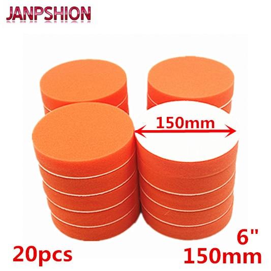 """JANPSHION 20PC 150mm Gross Polishing Buffing Pads 6"""" Flat"""