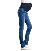 Купить с кэшбэком Denim Maternity Jeans Plus size Elastic waist Long Trousers pants for Pregnant women Pregnancy clothes ropa embarazada leggings