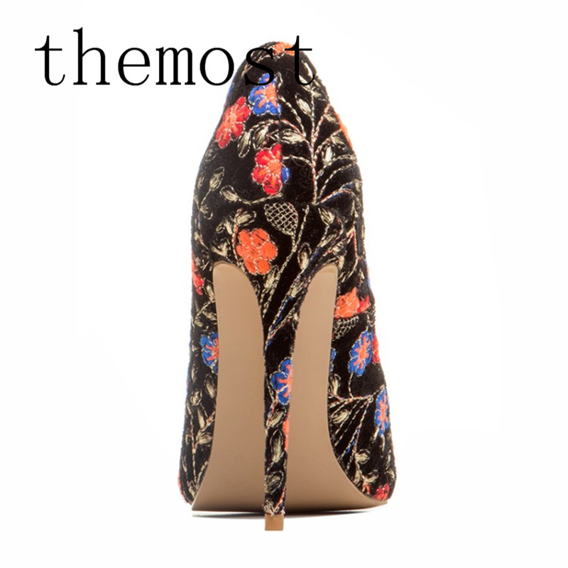 Profonde 2018 Rome Européenne Talons Noir 48 Taille Chaussures Peu À 34 Dame Sexy Mode Hauts Grande Style Bouche Pointu Themost fwCvqf