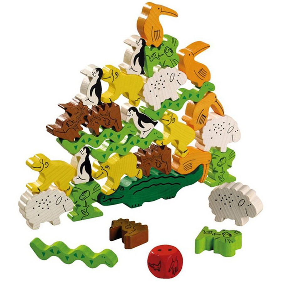 Family Game Board Games For Kids Animal Upon Animals Dobble Stacking Children Party Games New