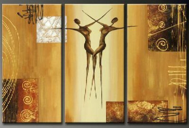 handpainted 3 piece modern abstract oil painting on canvas wall art ...