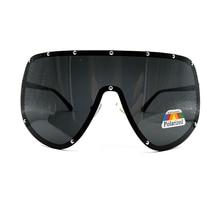 Fashion Oversized Big Huge Mask Shield Half Face Polarized L