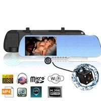 5 0 Android 4 4 Car GPS Navigation Rearview Mirror Radar Detectors Allwinner A33 1080P Car