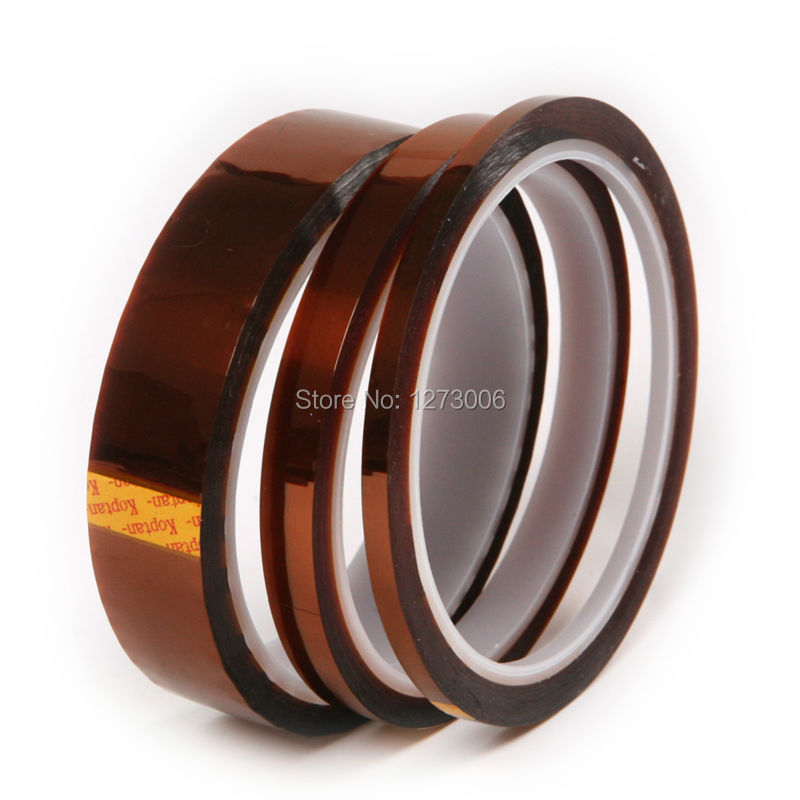 3Pcs/lot 4mm 9mm 20mm Heat Resistant Polyimide Tape High Temperature Adhesive Insulation Kapton Tape For Car Electric Appliance high temperature heat resistant tape polyimide film adhesive tape tawny