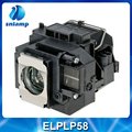 High quality compatible projector lamp ELPLP58 / V13H010L58 for EB-S10 EB-S9 EB-S92 EB-W10 EB-W9 EB-X10 EB-X9 EB-X92 ect.