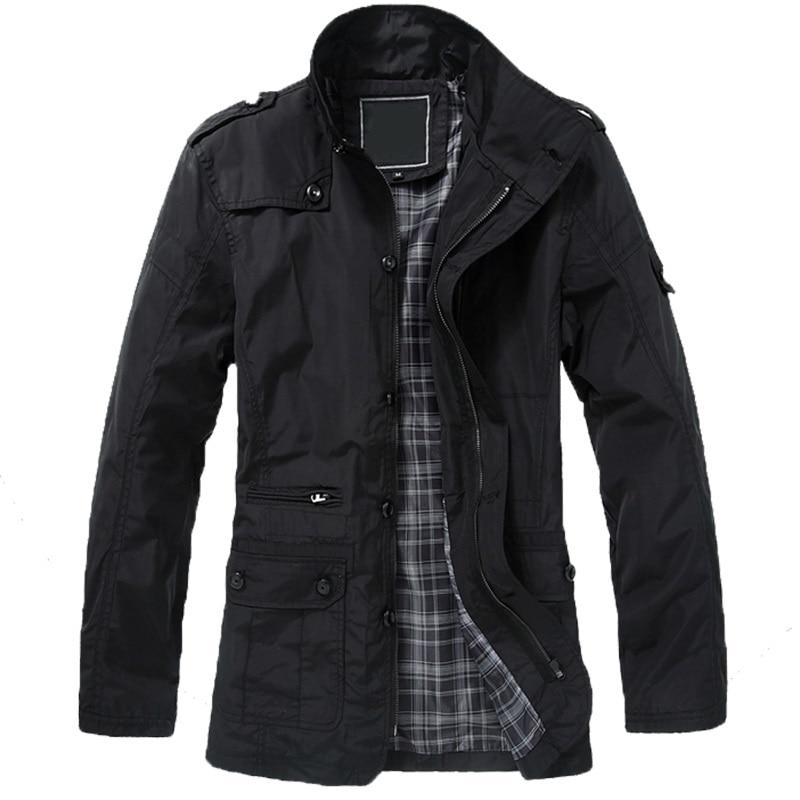 2018 Winter Jacket For Men   Trench   Coat Men Winter Male Jacket Turn-Down Collar Plus Size 5XL Long Jacket Mens Overcoat