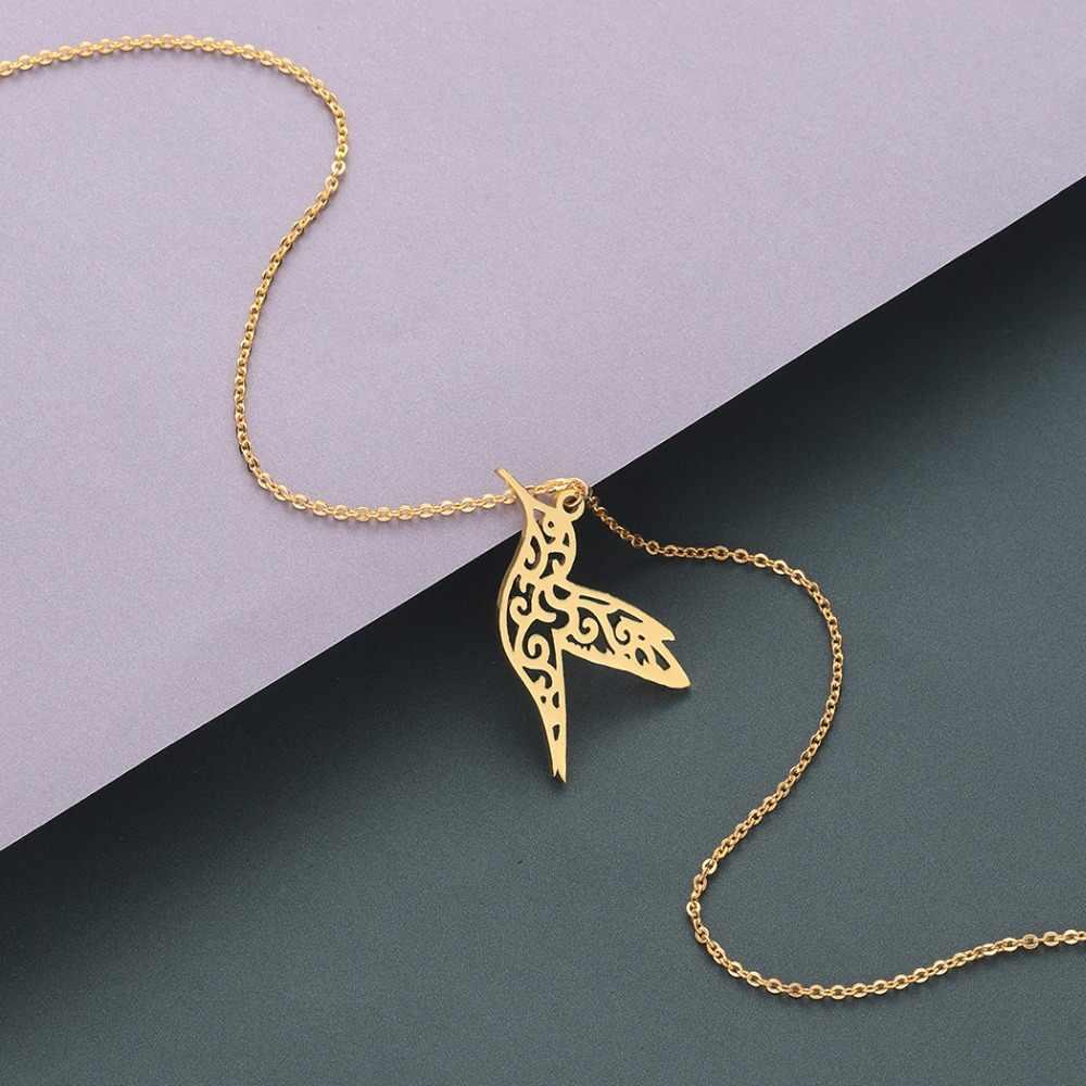 Chereda 2019 naszyjnik ze stali nierdzewnej biżuteria srebrny kolor długie naszyjniki i wisiorki biżuteria joyas acero inoxidable mujer