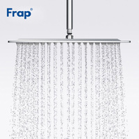Frap Bathroom Shower Head Square 304 Stainless Steel Ducha Ultra thin Large Rainfall Shower Head Bath Rain Shower F28 3