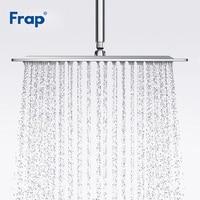 Frap New Bathroom Shower Head Silver Square 304 Stainless Steel Large Rainfall Overhead Shower Head Bath Rain Shower F28 3/G28