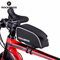 Rockbros Bicycle Accessories Reflective Strip Bicycle Bags Panniers Front Tube Bike Bag Frame Bicycle Bag Cycling