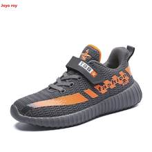 Children's shoes 2019 new flying woven mesh breathable yeeyz boy and girl shoes kids sneakers boys loafer shoes(China)