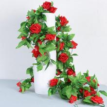 Diy Rattan Rose Flower Wall Mounted Fake Flower Simulation Heating Pipe  Indoor Living Room Decor