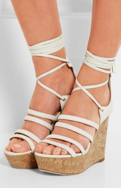 2019 Open Toe Lace-up Gladiator Shoes Woman Fashion Wedges Super High Heel Cross-tied Ankle Solid Color Size 342019 Open Toe Lace-up Gladiator Shoes Woman Fashion Wedges Super High Heel Cross-tied Ankle Solid Color Size 34