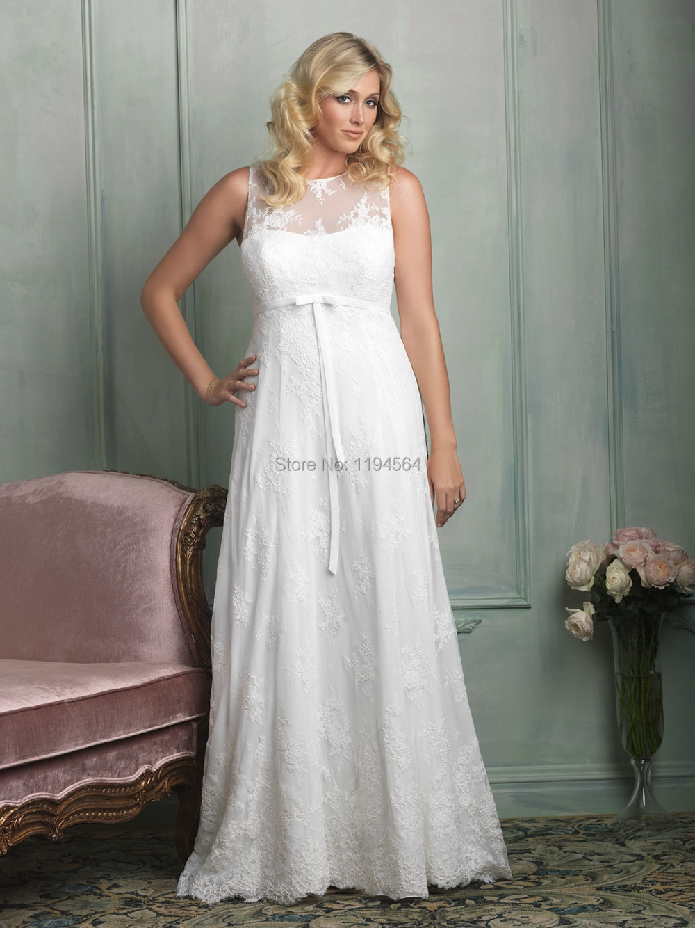 e7381fc037 2015 New Arrival Modest Sheer High Neck Lace Wedding Dress Plus Size See  Thorugh Back Turtleneck Summer Beach Bride Gowns WH611