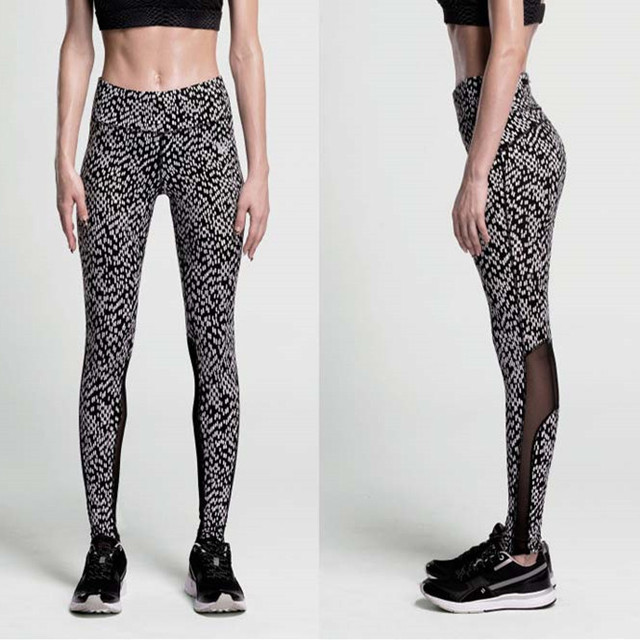 c4e9b5c531e7e Pantalones de Yoga mujeres pantalones deportivos de malla mallas medias  leggings yoga fitness correr pantalones calzas