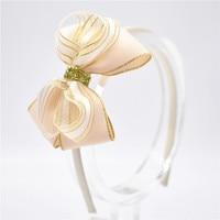 Windmill bow arcs Hairbands girl headbands children hair hoop Girls Boutique Hair Accessories Golden lace bows 1pcs Girls Accessories