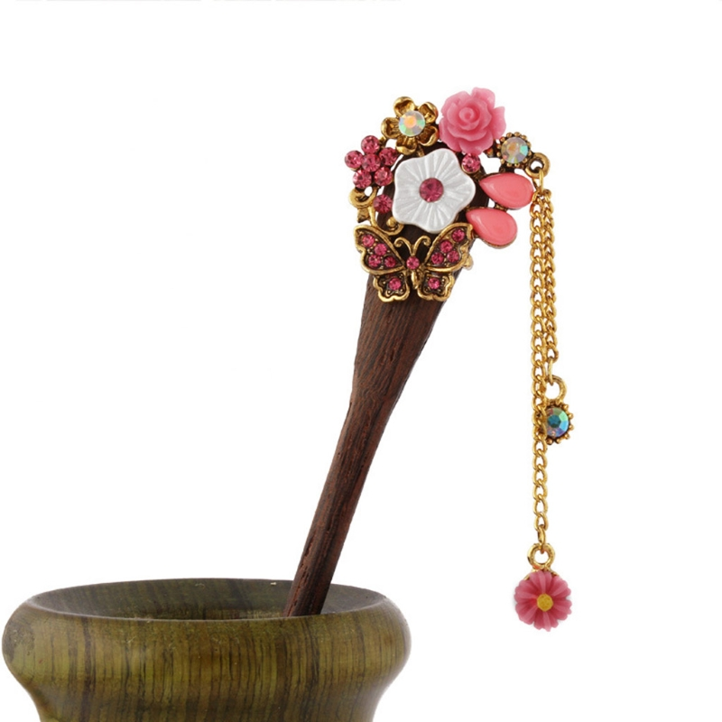 Retro Traditional Wooden Hairpin 1