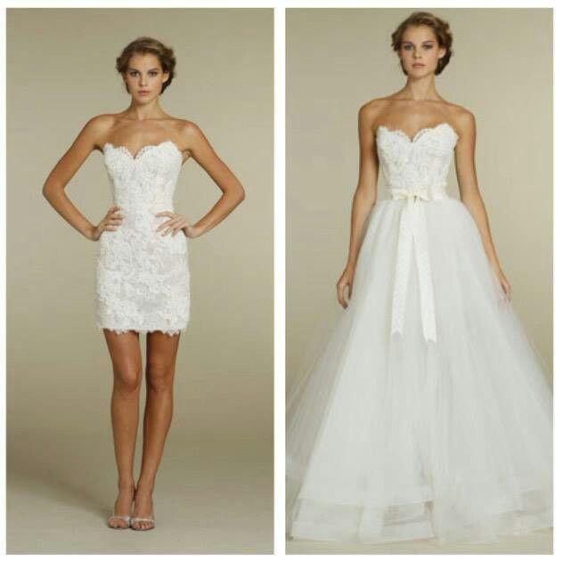 Съемная юбка к свадебному платью